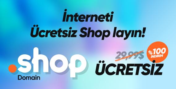 Ücretsiz .SHOP Domain Kazanın