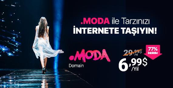 .moda Domain ile Tarzınızı İnternete %77 İndirimli Taşıyın!