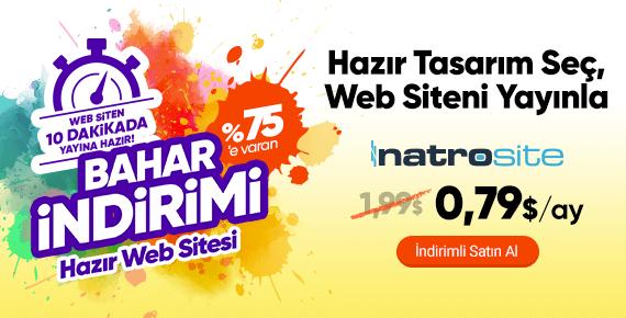 %75'e Varan Bahar İndirimi ile Hazır Web Sitesi Sahibi Olun!