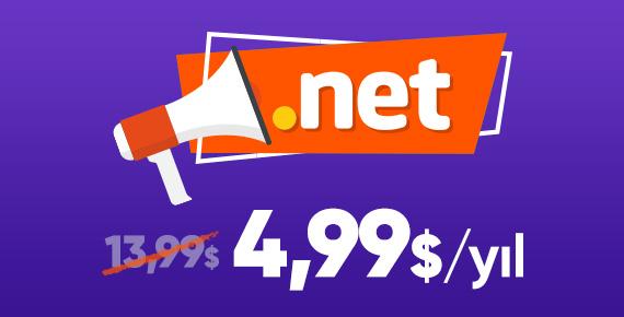 .NET Domain İndirimi!