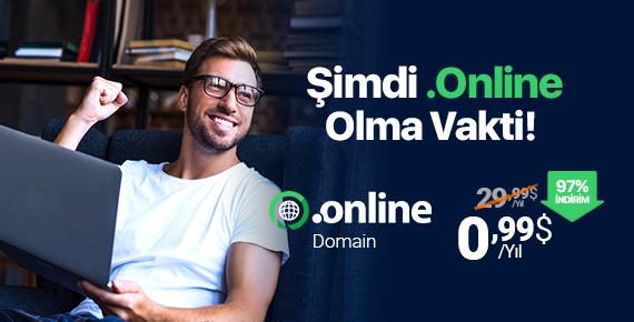 .ONLINE Domaine Sadece 0,99$'a Sahip Olun!