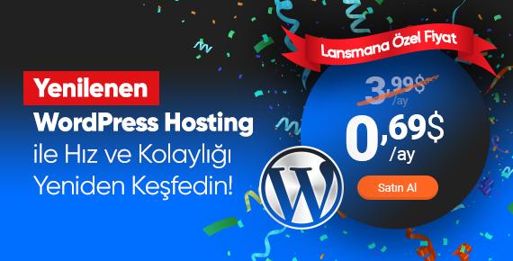 WordPress Hosting (JetPress) Lansman Kampanyası