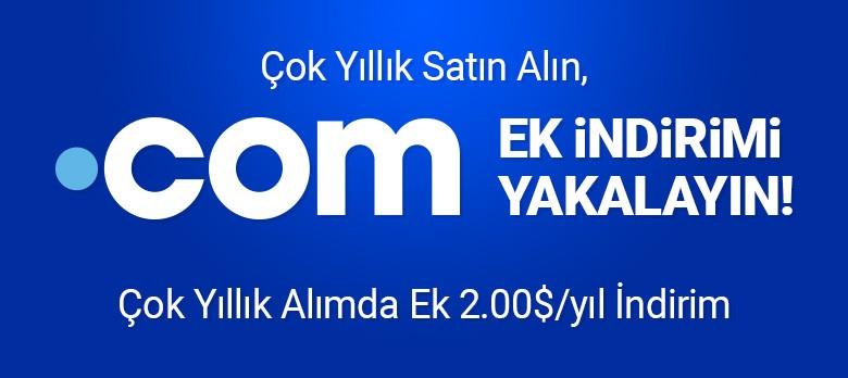 .COM Domain - Çok Yıllı Kayıt Fırsatı