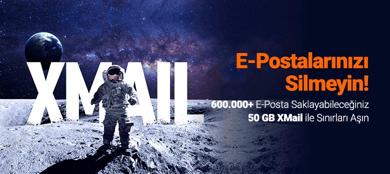 50 GB XMail ile 600.000'den Fazla E-Posta Saklayın!