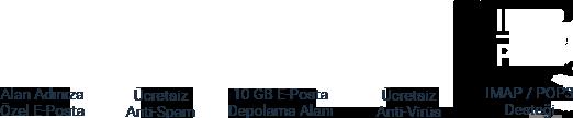 Ücretsiz Anti Spam ve 50 GB Posta Kutusu ve Ücretsiz Anti-Virüs İçeren Mail Hosting
